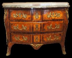Commode de salon d'époque Louis XV estampillée JB Fromageau