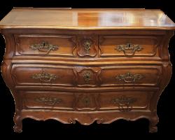 Commode tombeau en noyer – Époque Louis XV