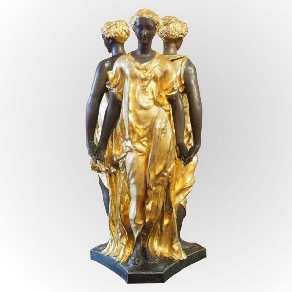 """Bronze ciselé à double patine """"les trois grâces"""""""