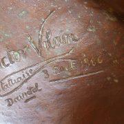 Buste en bronze représentant Lucien Fromage