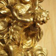 Cartel en bronze triple sonneries d'époque Louis XV