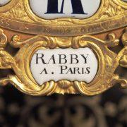 cartel et sa console en marqueterie Boulle signé de RABBY A. Paris