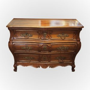 Commode tombeau en noyer - Époque Louis XV