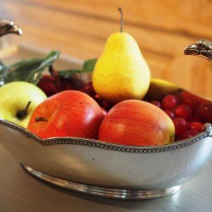 Corbeille à fruits en argent
