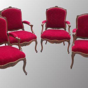 Fauteuils d'époque Louis XV
