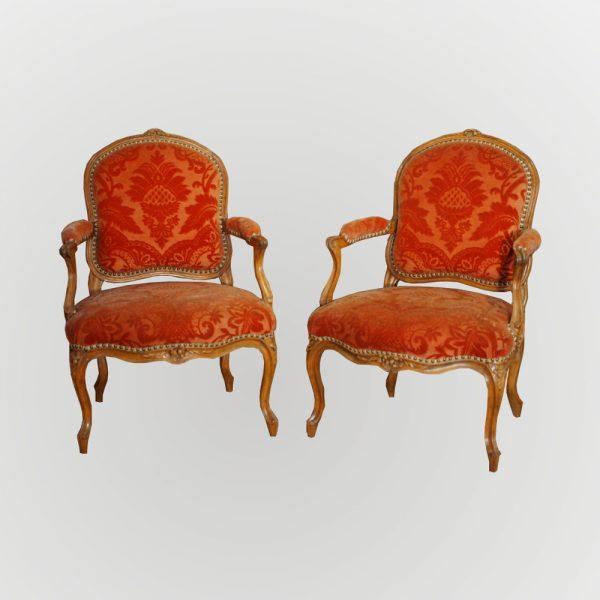 Paire de fauteuils estampillés C.Chevigny
