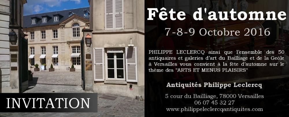 invitation fête automne antiquité 2016