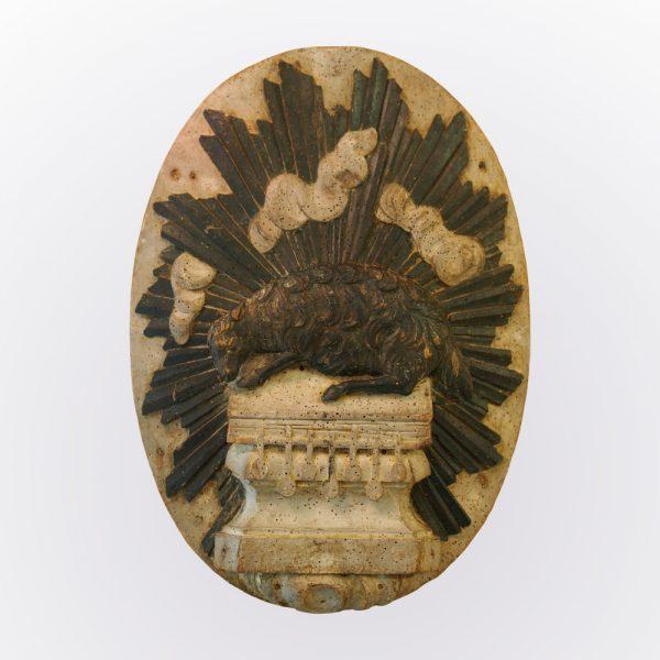 Médaillon représentant l'agneau Pascal