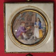 Miniature ivoire 19ème