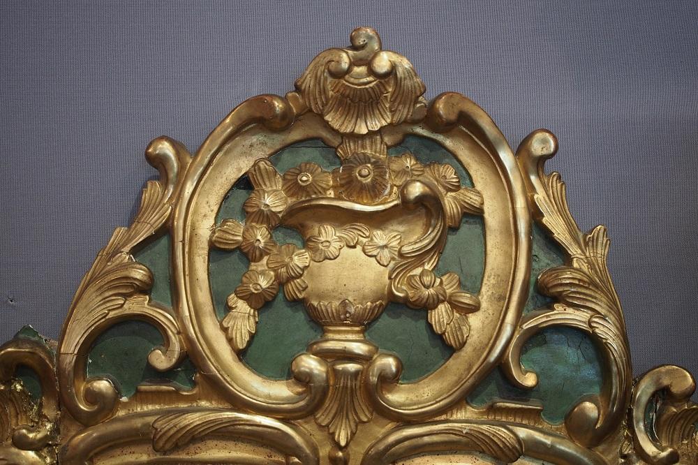 miroir en bois dor d 39 poque louis xv. Black Bedroom Furniture Sets. Home Design Ideas
