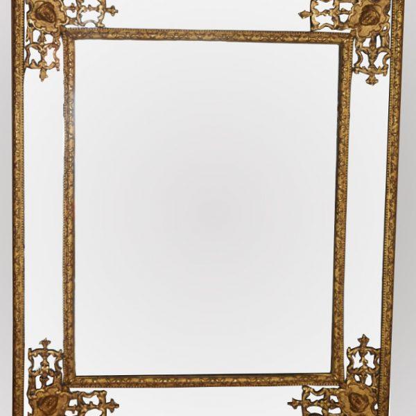 Miroir 4 coins Régence
