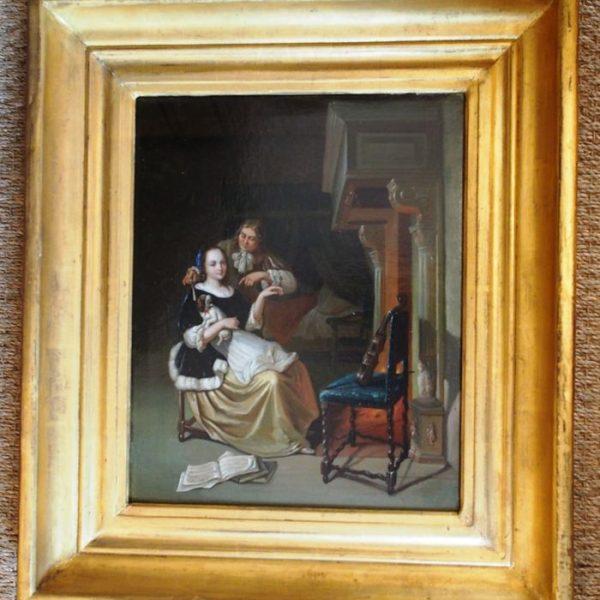 Paire de tableaux d'époque fin XVIIIème