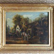 Paire de tableaux sur cuivre d'époque XIXème