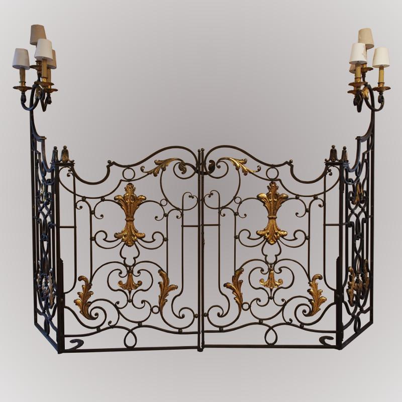 portail d 39 int rieur en fer forg. Black Bedroom Furniture Sets. Home Design Ideas