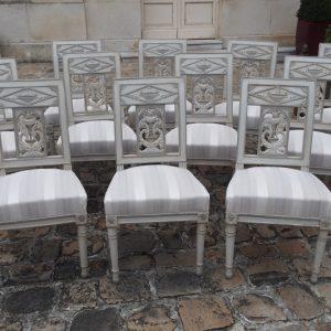 Rare suite chaises d'époque