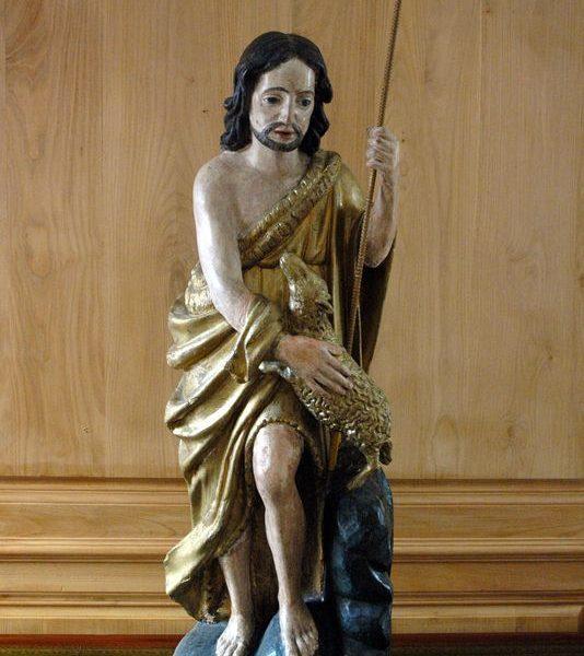 Statue chêne saint Jean