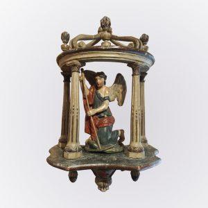 Statue représentant Saint Georges terrassant le dragon