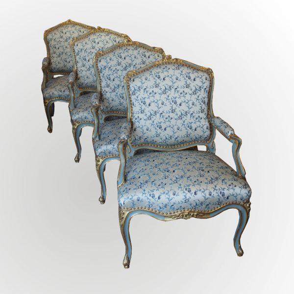 suite fauteuils époque Louis XV