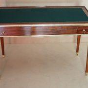 Table de jeux en acajou de Cuba d'époque Louis XVI