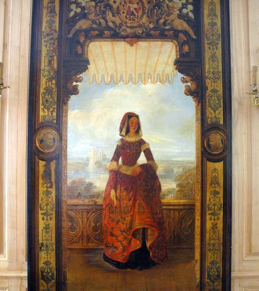 Huile sur toile représentant une femme sur une terrasse