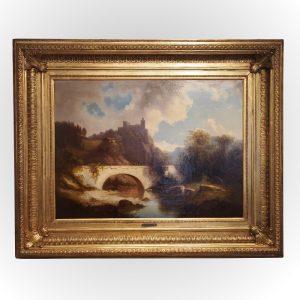 Grand tableau signé de Bergmann
