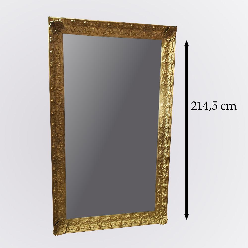 Grande glace de style r gence hauteur 214 5 cm for Grande glace miroir