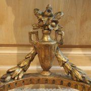 Console demi-lune en bois doré d'époque Louis XVI