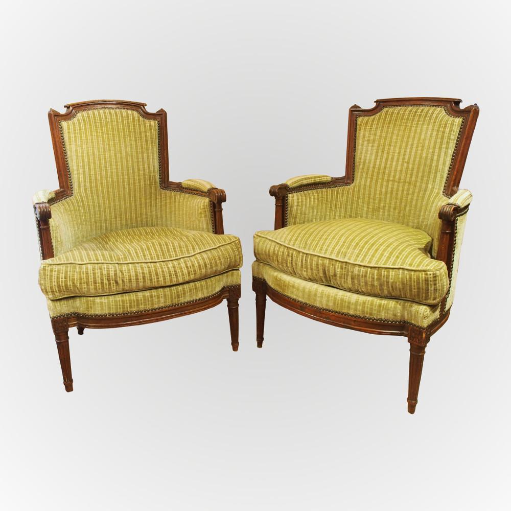 paire de berg res d 39 poque louis xvi. Black Bedroom Furniture Sets. Home Design Ideas