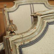 Suite de quatre fauteuils Louis XVI en bois laqué