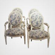 suite-4-fauteuils-fleurs-oiseaux