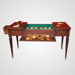 Table de jeux Tric-Trac formant bureau plat