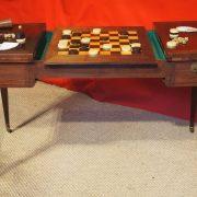 Table de jeux Tric-Trac formant bureau plat