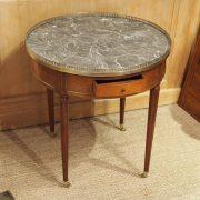 Table bouillotte d'époque Louis XVI en acajou de Cuba (1)