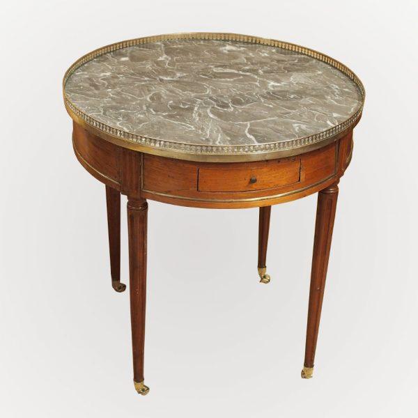 Table bouillotte d'époque Louis XVI en acajou de Cuba