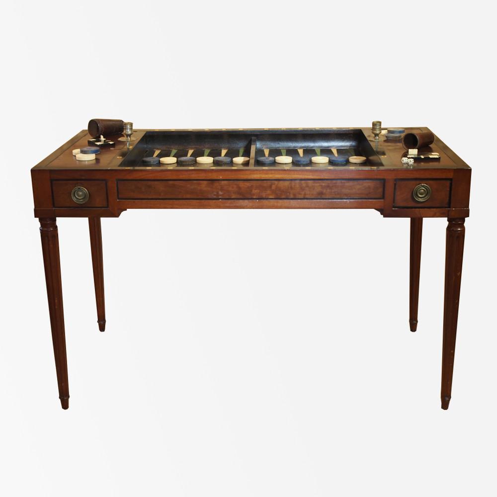 table trictrac d 39 poque louis xvi estampill e e m olonde. Black Bedroom Furniture Sets. Home Design Ideas