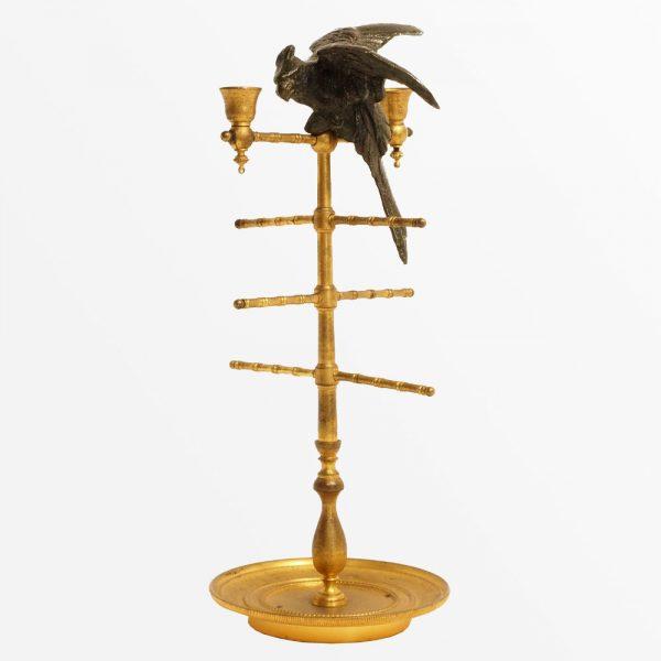 objet-maitrise-perroquet-bronze