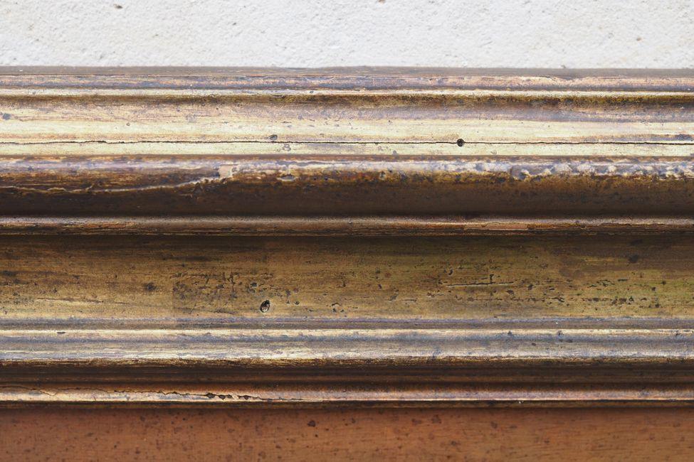 Tableau sur bois représentant une nativit