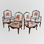 paire fauteuils louis xv
