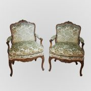 paire fauteuils regence