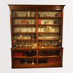 Bibliothèque bibus en bois naturel d'époque Restauration