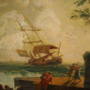 Huile sur toile. Peinture de marine