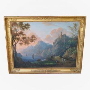 tableau-gouache-louis-gadbois-antiquite