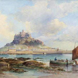Tableau : Vue du Mont St Michel, John Clarke Isaac UREN