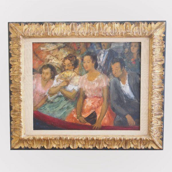 Tableau : Famille au balcon de théâtre