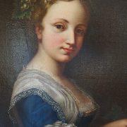 Tableau : Jeune fille à la corbeille de fruit