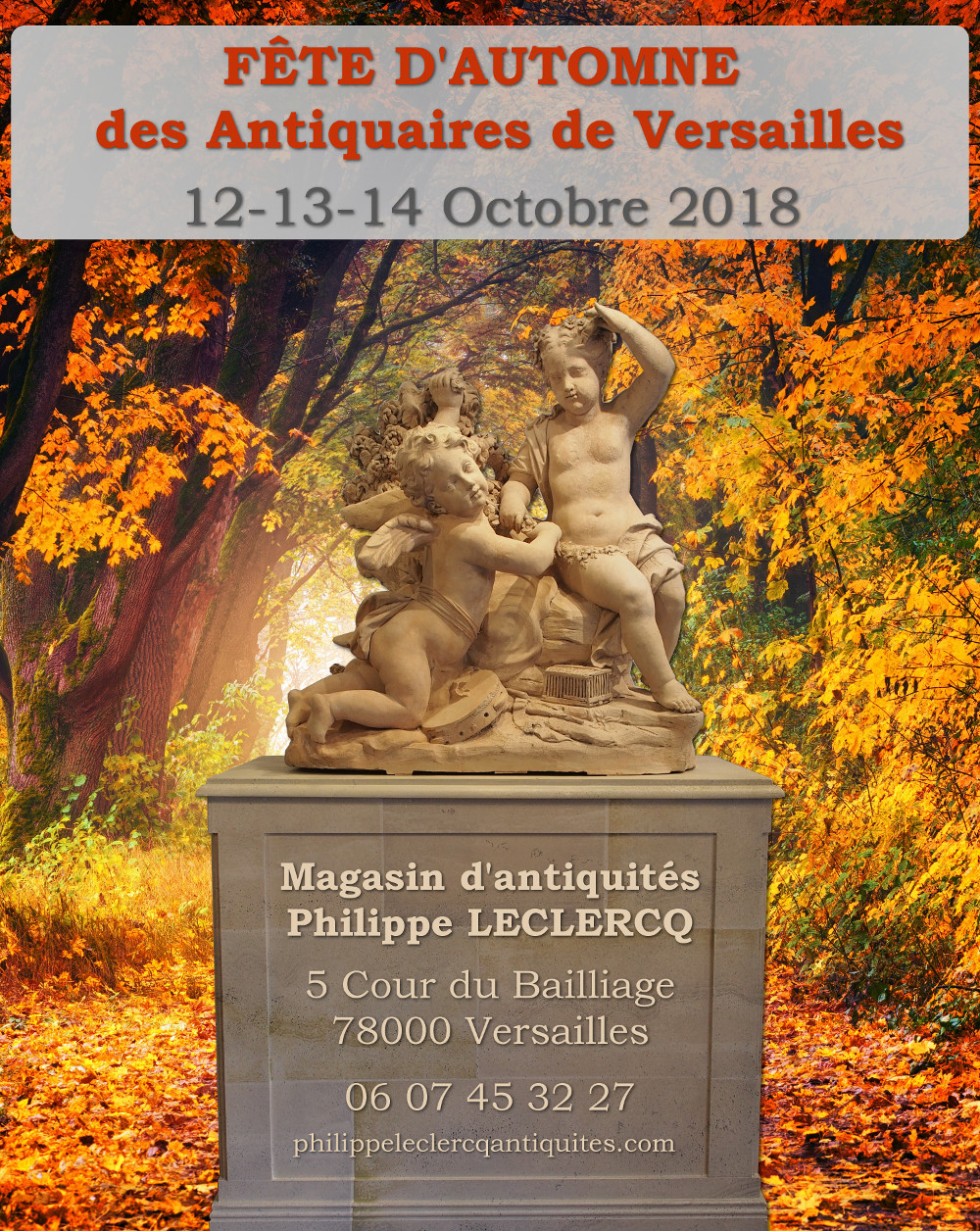 affiche fete automne 2018 antiquaires