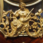 Sculpture en bronze doré représentant la justice
