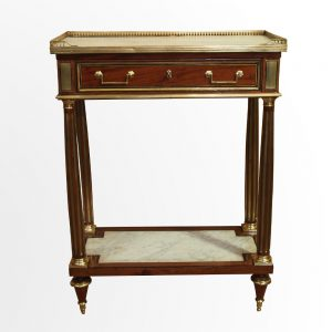 Console à double plateaux de marbre d'époque Louis XVI