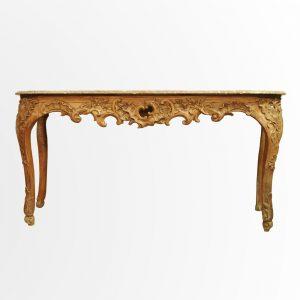 Longue table à gibier d'époque Régence