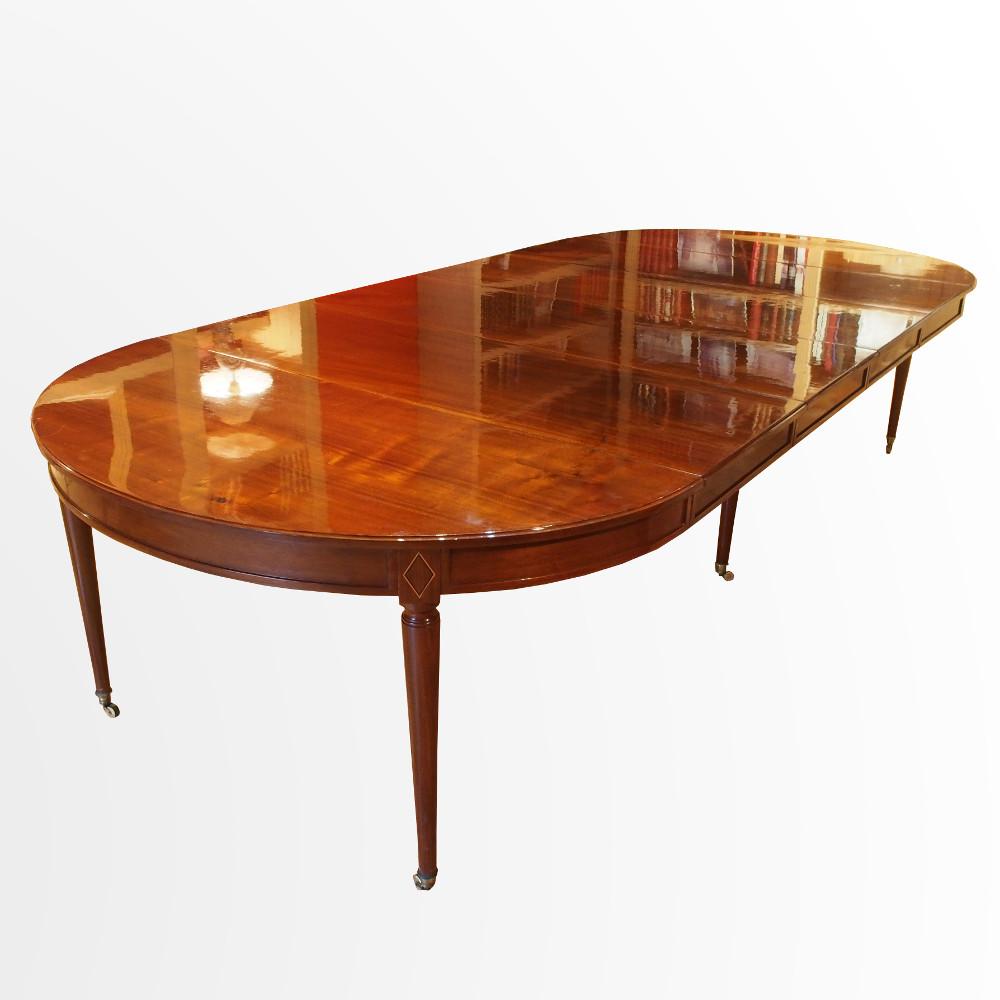 Grande Table De Salle A Manger A Bandeau En Acajou 462 Cm X 147 Cm